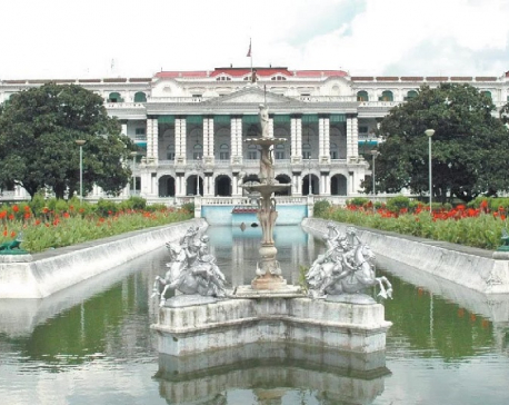 Reconstruction of earthquake-ravaged Singha Durbar being completed