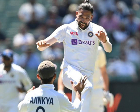 Bereaved India paceman Siraj savours emotional test debut