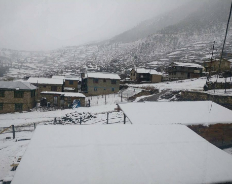 Students battle snow in Humla for first SEE paper