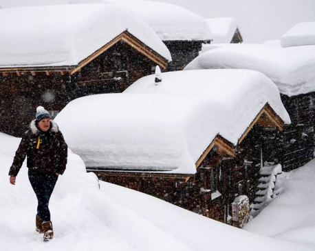 8 Davos snowfall pictures