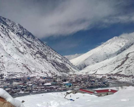 Heavy snowfall in Dolpa (with photos and video)