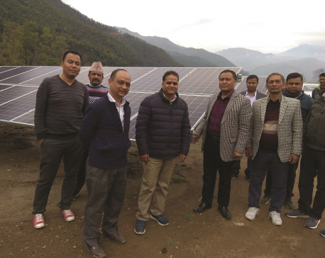 Solar plant construction in Nuwakot in final stages