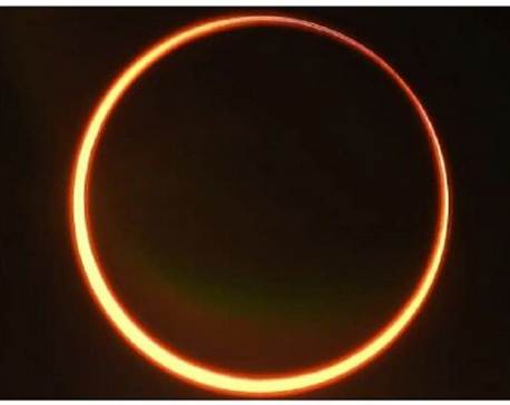 Partial solar eclipse today