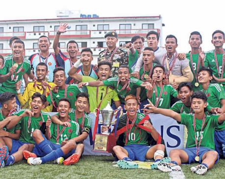 Army crowned U-18 football champion