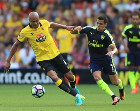 Sanchez inspires Arsenal to 3-1 win at Watford