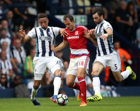 Middlesbrough stays unbeaten after 0-0 draw at West Brom