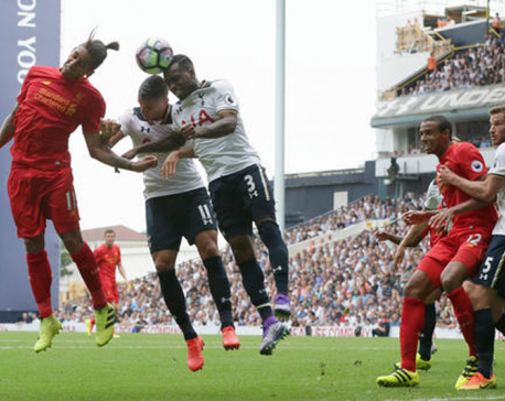 Tottenham strikes back for 1-1 draw with Liverpool