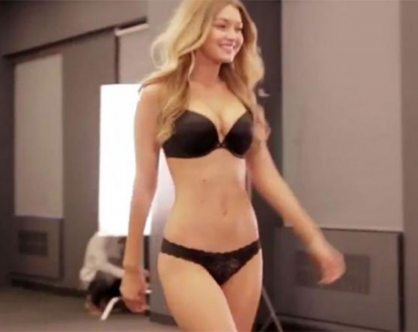 Gigi Hadid shows off flawless figure as she strips down