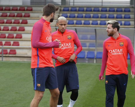 Messi back in full training after groin injury