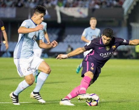 Barcelona score three but Celta score more