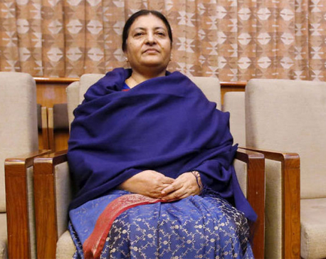 Prez Bhandari summons top leaders to Sheetal Niwas
