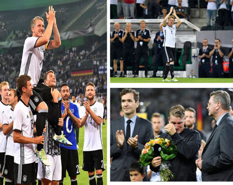 Tears for Schweinsteiger in last game for Germany