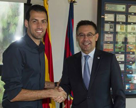 Sergio Busquets to stay with Barcelona at least until 2021