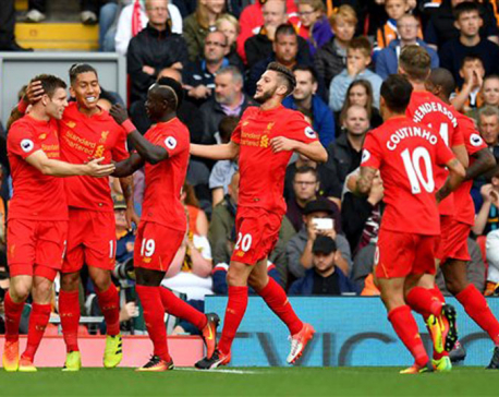 Liverpool thrashes Hull 5-1 in Premier League