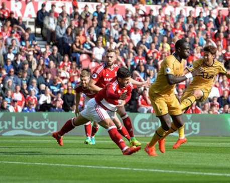 Son fills Kane void to give Spurs 2-1 win at Middlesbrough