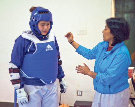 Taekwondo star Baidhya in changed role as Nisha's coach
