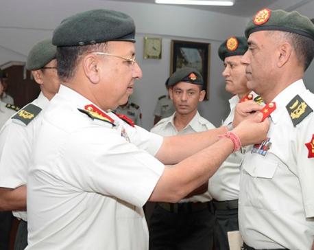 CoAS Chhetri confers insignia on Major Generals Sharma, Tandul