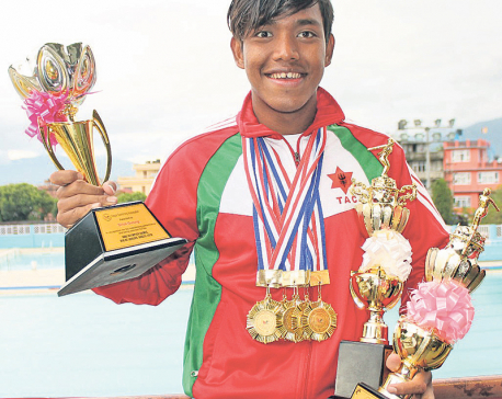 Two national records for Sirish