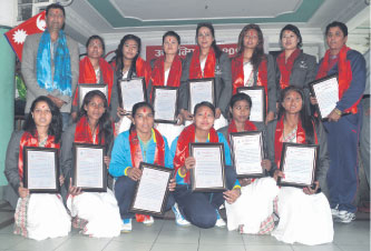 NVA honors Women volleyball team