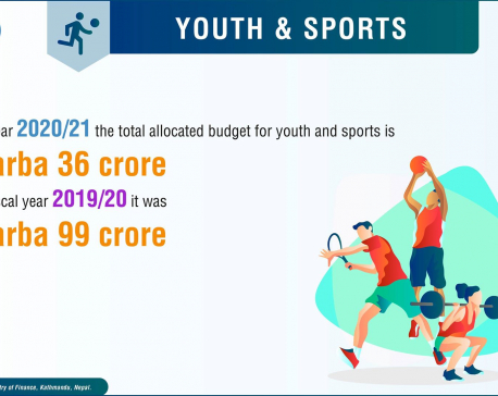 Budget for sports decreased by Rs 1.6b