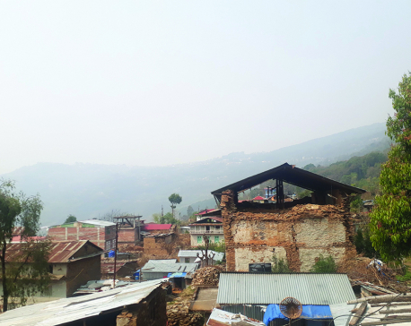 Ancient Dolakha town turns risky, ugly after earthquake