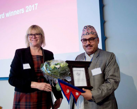 FSCN's Thapa receives International Humanitarian Hero 2017 Award