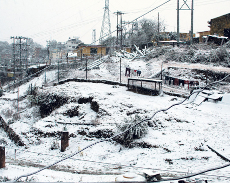 Snowfall in Sudur Paschim disrupts internet, power supply