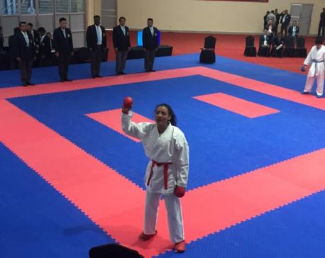 Sunita Maharjan wins gold in Kumite