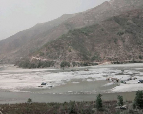Random sand mining taking toll on the Sunkoshi River