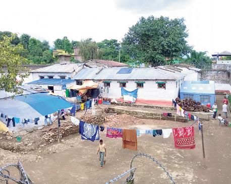 Surkhet district prison filled four times its capacity