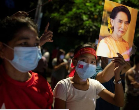 Suu Kyi's party confident as unofficial Myanmar vote tally shows lead
