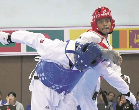 Shrestha bags 12th taekwondo gold for Nepal