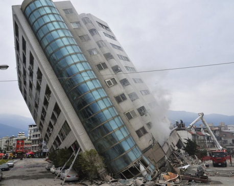 6 dead, 88 missing as quake hits Taiwan
