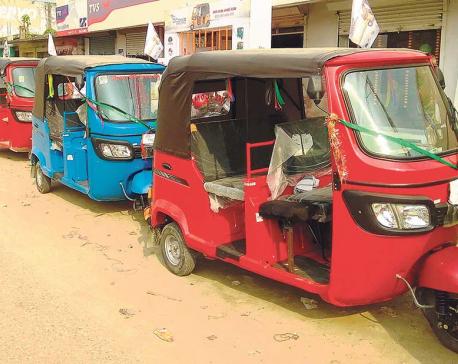 Auto-rickshaw imports through Birgunj doubles in first half of FY2017/18