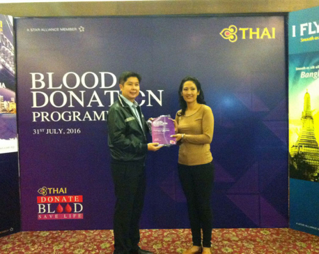 Thai Airways organizes blood donation program
