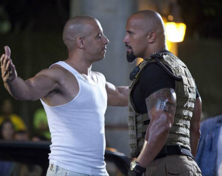 The Rock and Vin Diesel involved in social media dispute