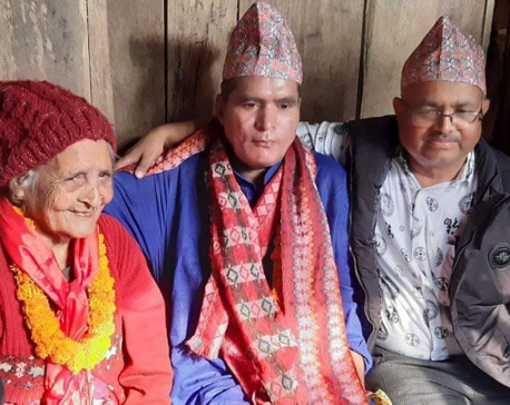 PHOTOS: A Nepali mother meets her son after 40 years