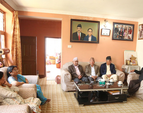 Top leaders gather at Maoist Chairman Dahal's house