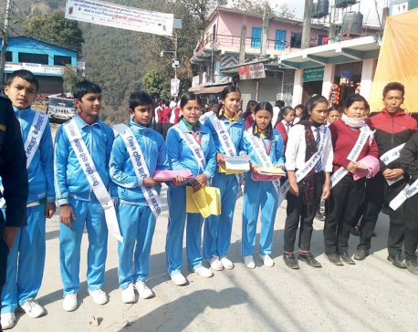 Students join in traffic awareness campaign