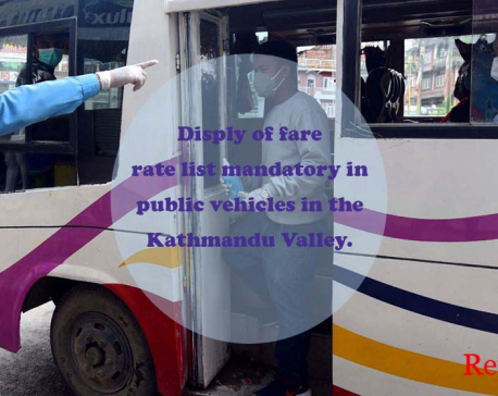 Traffic police to take action against public vehicles not displaying fare rate list