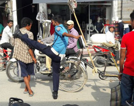 Traffic cop who kicked rickshaw puller set to face action