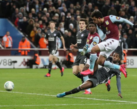 Trezeguet fires Villa past Leicester into League Cup final