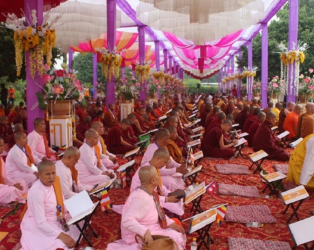 Second International Tripitaka chanting ceremony begins in Lumbini
