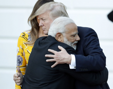 Trump and Modi exchange hugs, herald stronger US-India ties