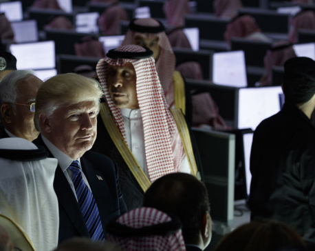 Trump, in address to Muslims, urges fight against terror