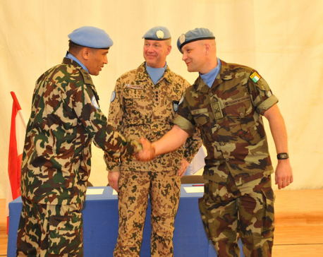 Nepali Officer takes over command of UNTSO's OGL