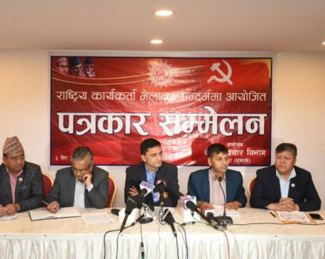 CPN-UML's Nepal-led faction accuses party chairperson Oli of trying to divide party
