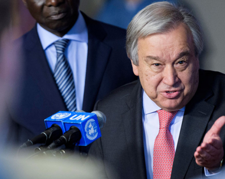 U.N. chief recommends ministers, diplomats skip traveling to meeting due to coronavirus risks