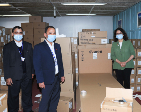 UNFPA and UK government handover IT equipment to Nepal's Central Bureau of Statistics