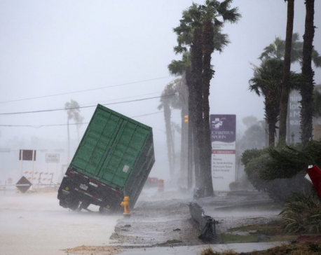 Harvey lashes Texas coast with high wind, torrential rain